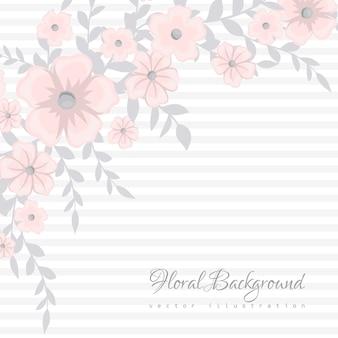 Carino motivo floreale con piccolo fiore