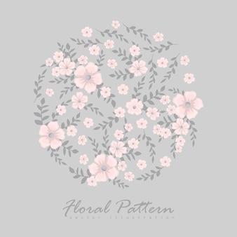 Carino motivo floreale nel piccolo fiore.