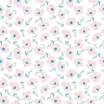 Carino motivo floreale nel piccolo fiore
