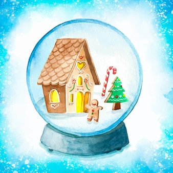 Carino natale snow globe