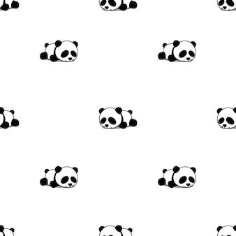 Carino panda che dorme senza cuciture