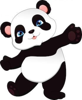 Carino panda divertente del bambino