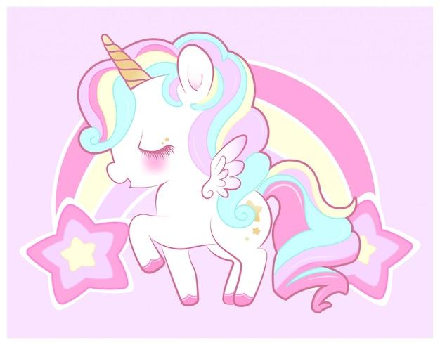 Carino pastello viola unicorno