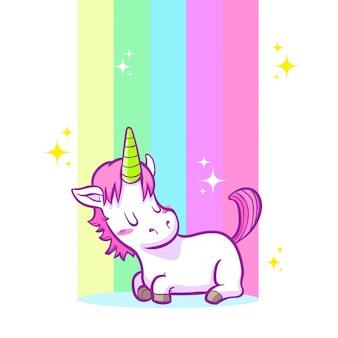 Carino piccolo sfondo unicorno