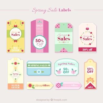 Carino primavera floreale vendita adesivi