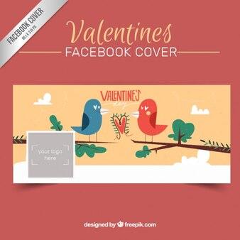 Carino san valentino copertura facebook con bords