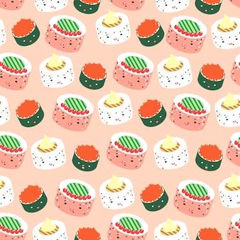 Carino sfondo modello cibo giapponese