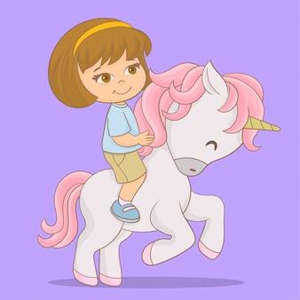Carino unicorno con stelle