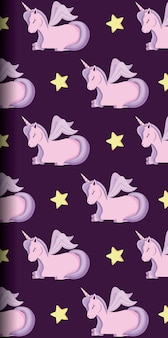 Carino unicorno del modello di fiaba