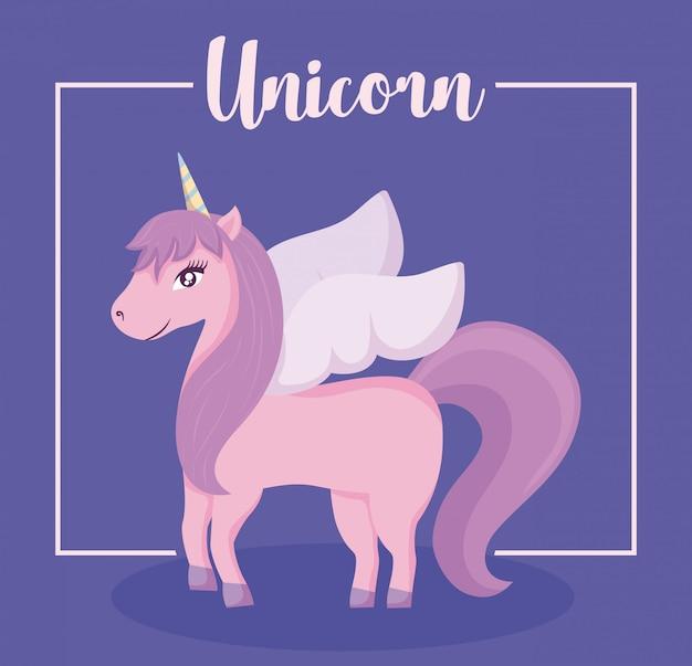 Carino unicorno di fiaba