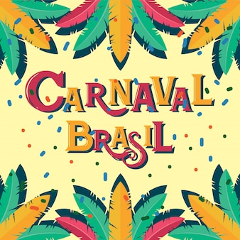 Carnaval brasil celebration background con elementi colorati del partito. evento in brasile