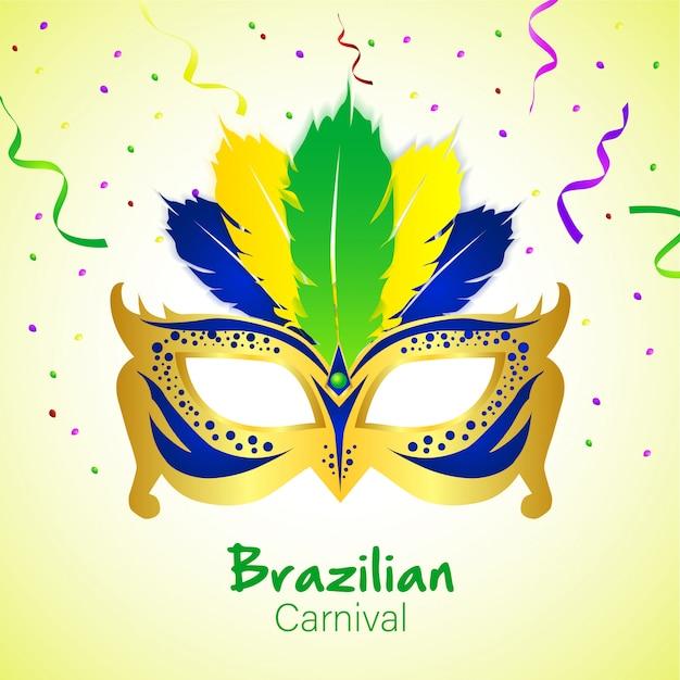 Carnevale brasiliano con maschera