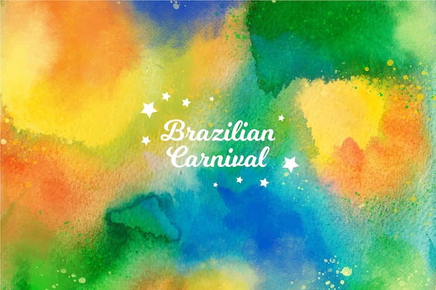 Carnevale brasiliano dell'acquerello colorato con stelle