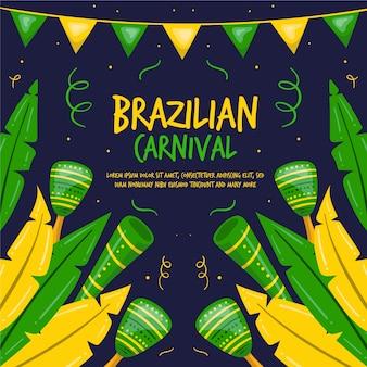 Carnevale brasiliano disegnato a mano