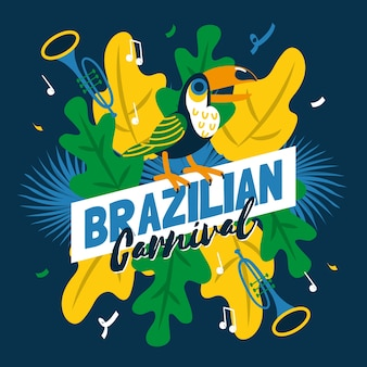 Carnevale brasiliano in mano disegnato