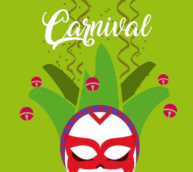 Carnevale con maschera e confetti