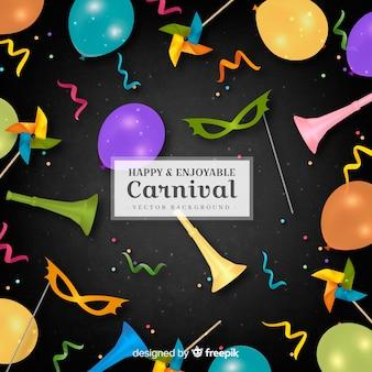 Carnevale felice e divertente