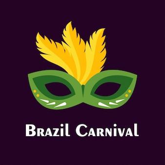 Carnevale festivo sfondo maschera