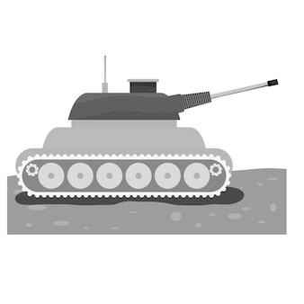 Carro armato per icona di contorno della marina
