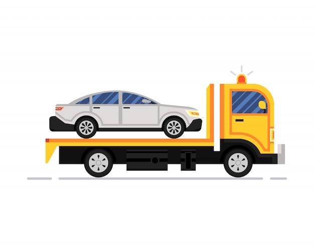 Carro attrezzi, camion al lavoro