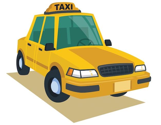 Carrozza gialla nello stile del fumetto di vettore