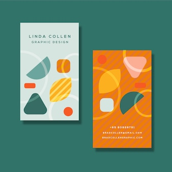 Carta aziendale colorata con forme diverse