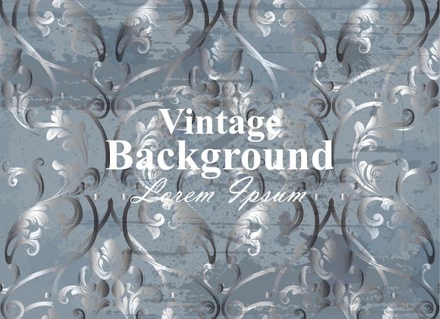 Carta barocca sullo sfondo vintage