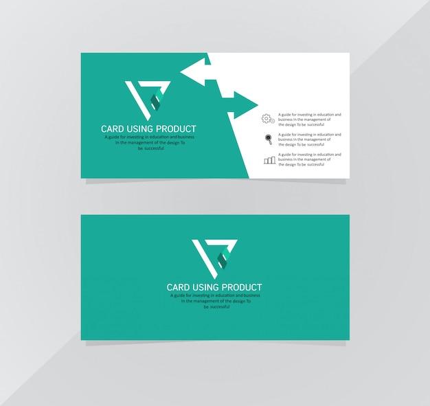 Carta business moderno creativo biglietto da visita e carta di nome