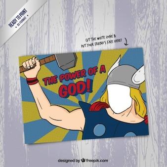 Carta cartone animato divertente