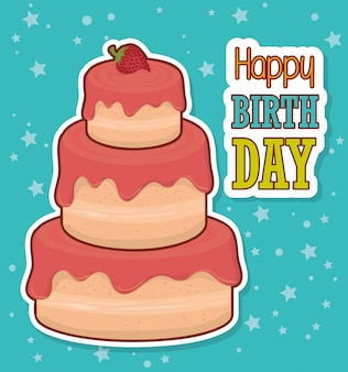 Carta colorata buon compleanno