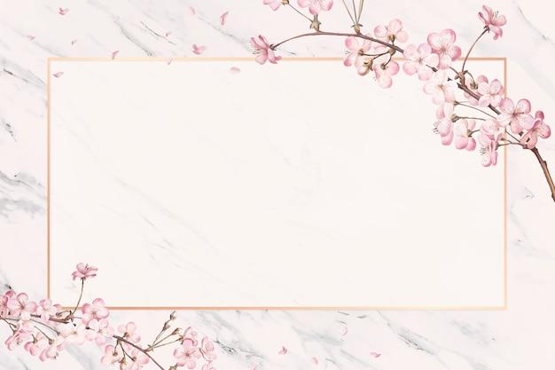 Carta cornice di fiori di ciliegio