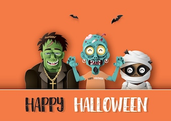 Carta d'arte di Happy Halloween