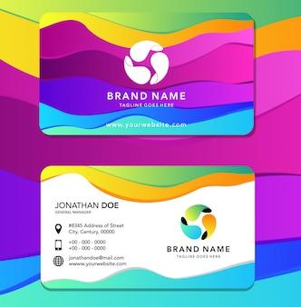 Carta d'identità a colori liquidi