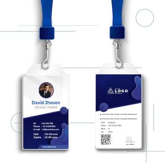 Carta d'identità aziendale di marketing