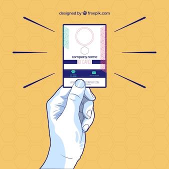 Carta d'identità moderna disegnata a mano