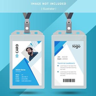 Carta d'identità ufficio blu e bianco