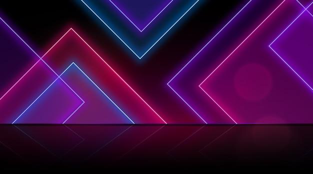 Carta da parati a motivi geometrici neon