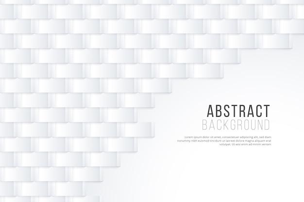 Carta da parati astratta bianca in stile 3d