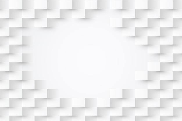 Carta da parati astratta bianca nel concetto della carta 3d