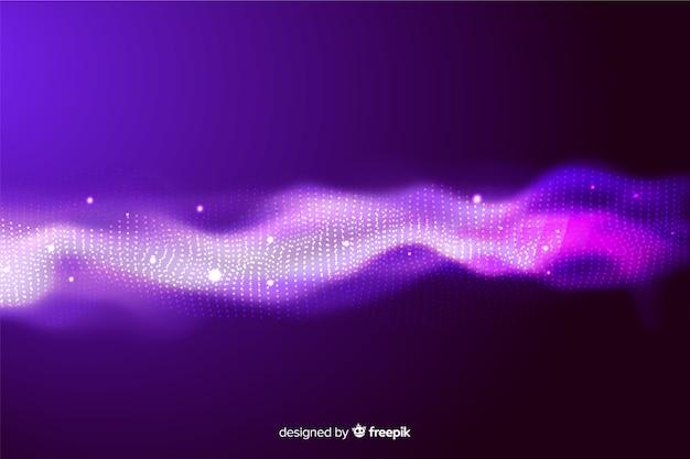 Carta da parati astratta dell'onda delle particelle dell'equalizzatore