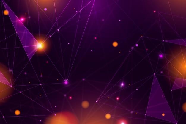 Carta da parati astratta delle particelle di tecnologia realistica