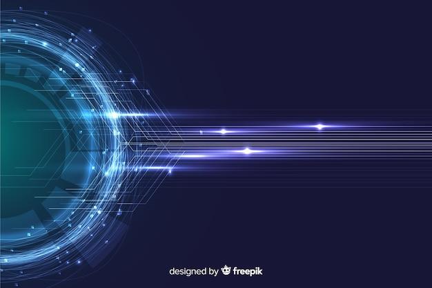 Carta da parati astratta delle particelle di tecnologia