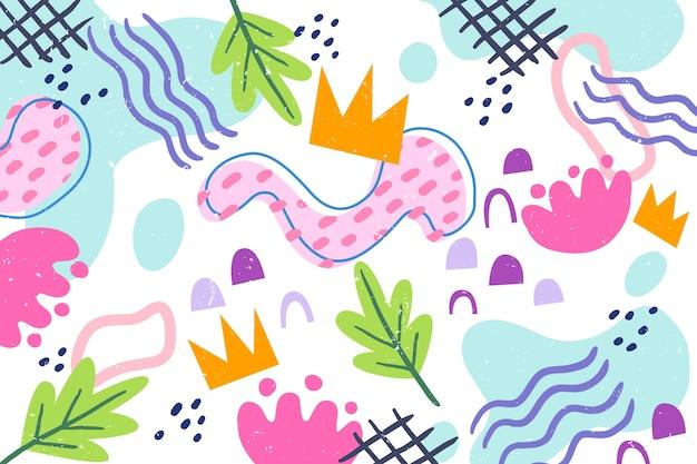 Carta da parati astratta di forme organiche