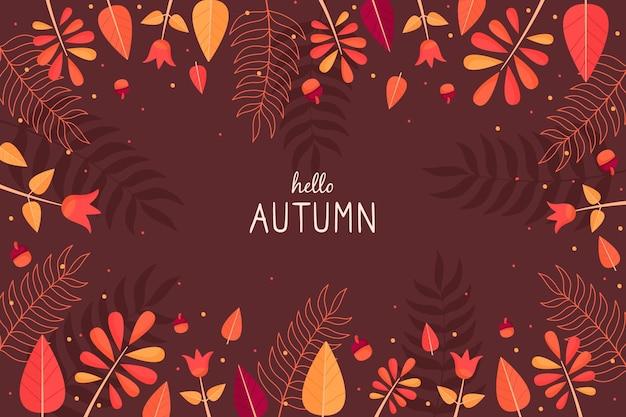 Carta da parati autunnale con foglie