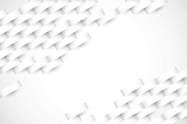 Carta da parati bianca in stile carta 3d