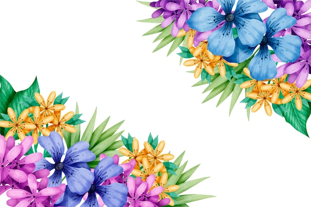 Carta da parati colorata ad acquerello primaverile