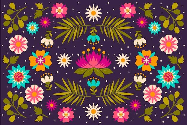 Carta da parati colorata con tema messicano