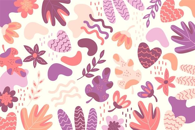 Carta da parati colorata forme organiche