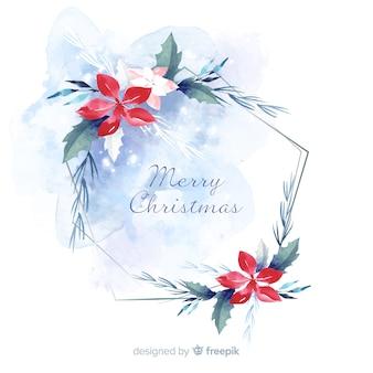 Carta da parati con decorazioni natalizie ad acquerello