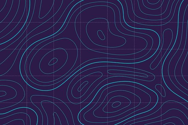 Carta da parati con design della mappa topografica